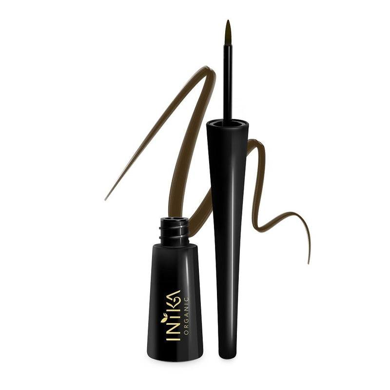 Inika Certified Organic Liquid Eyeliner Natural Makeup Total Beauty Network Brown