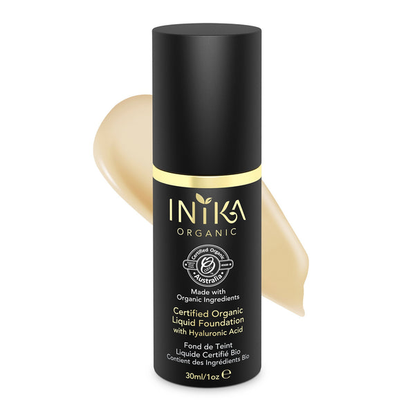 Inika Certified Organic Liquid Foundation with Hyaluronic Acid Natural Makeup Total Beauty Network