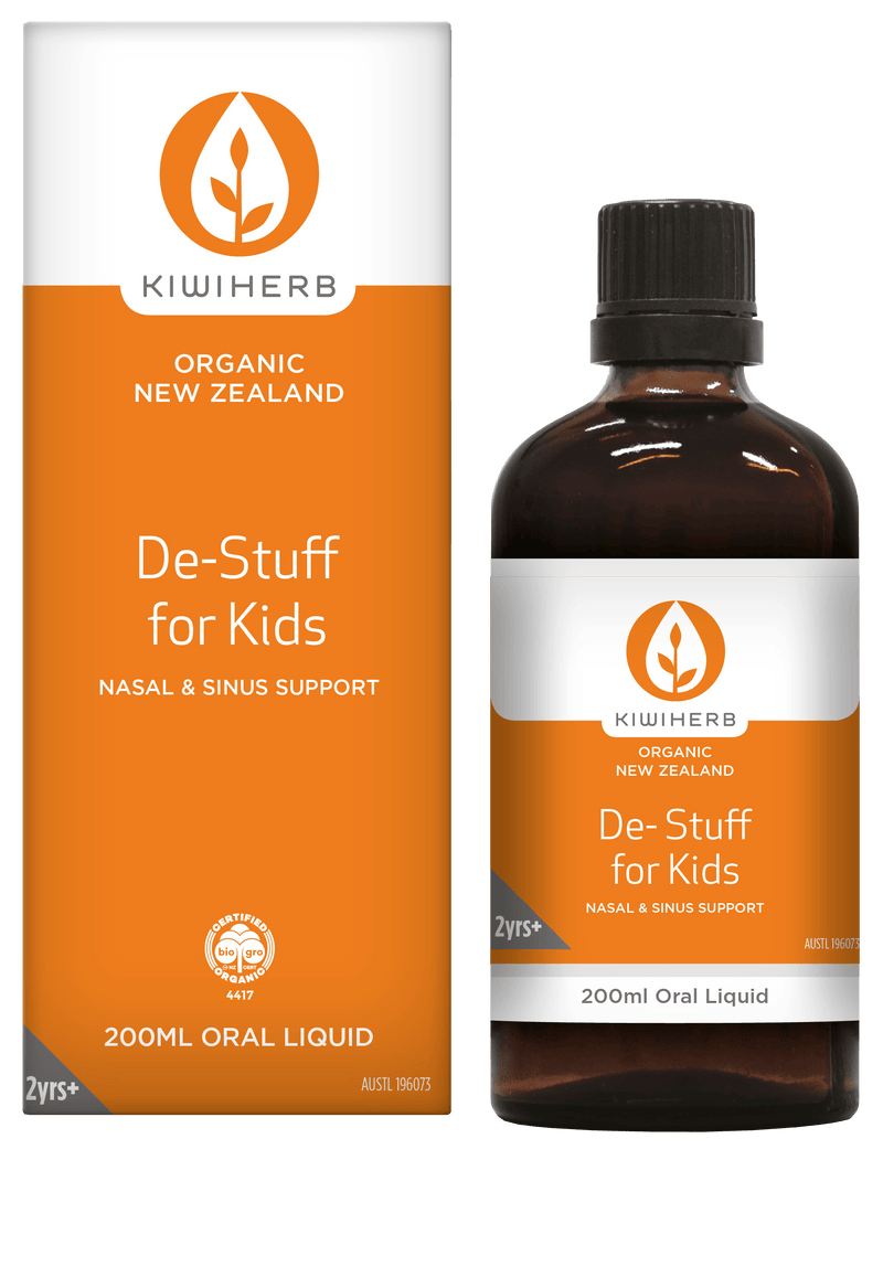 KiwiHerb De-Stuff for Kids Supplement Oborne Health Supplies