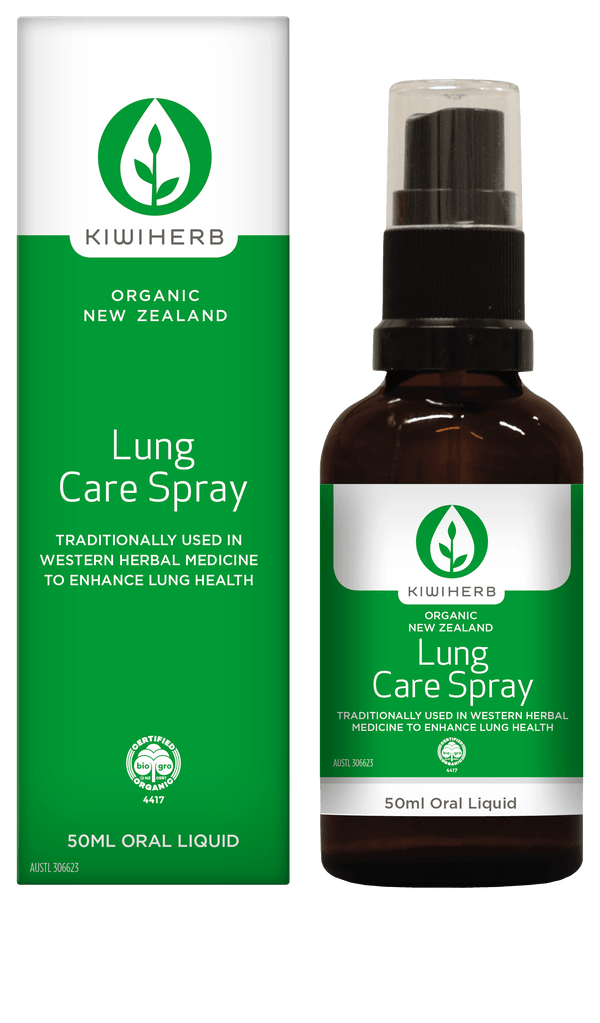 KiwiHerb Lung Care Spray Supplement Oborne Health Supplies