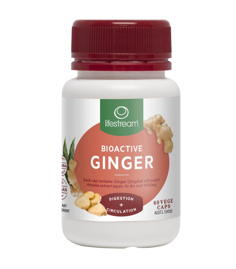 Lifestream Bioactive Ginger Supplement Integria Health Care 60 caps