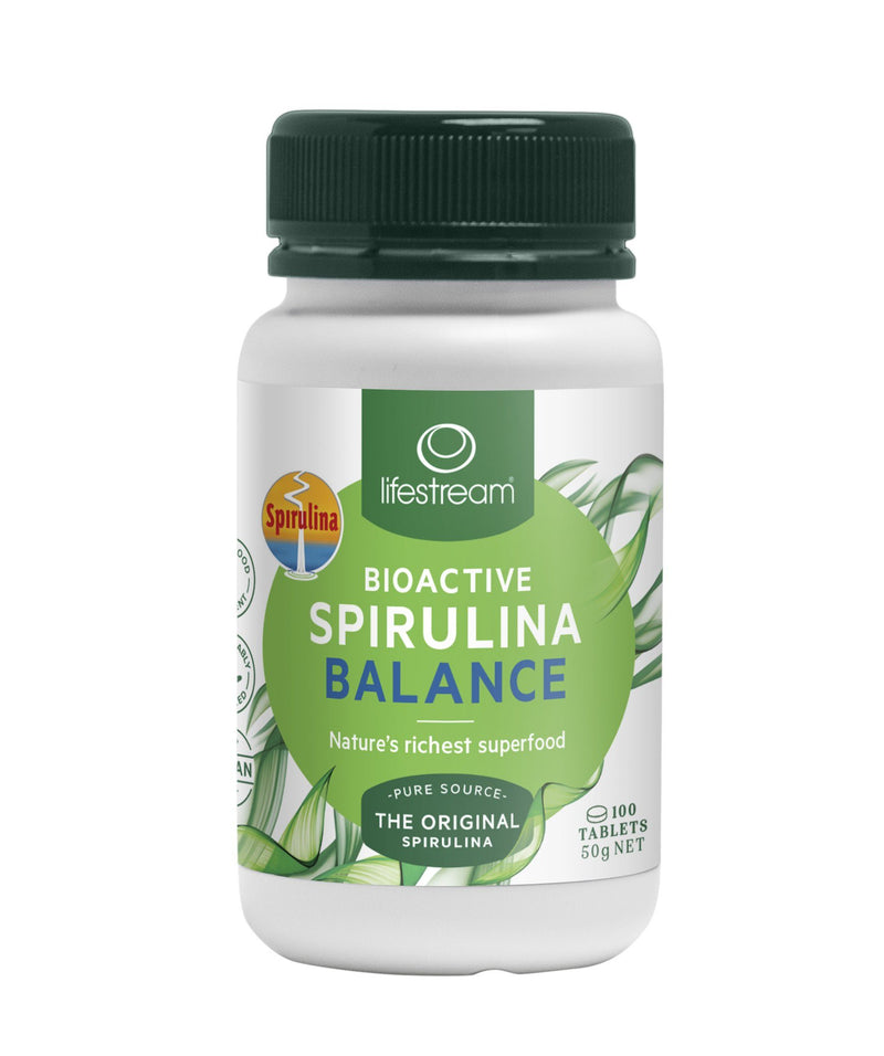 Lifestream Bioactive Spirulina Balance Tablets Supplement Integria Health Care 100 tabs