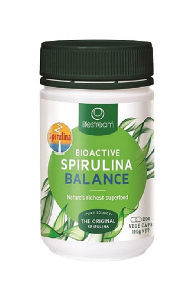 Lifestream Bioactive Spirulina Balance Vege Capsules Supplement Integria Health Care 200caps