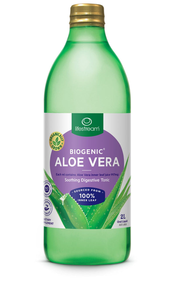 Lifestream Biogenic® Aloe Vera Digestive Tonic Juice Supplement Integria Health Care 2L