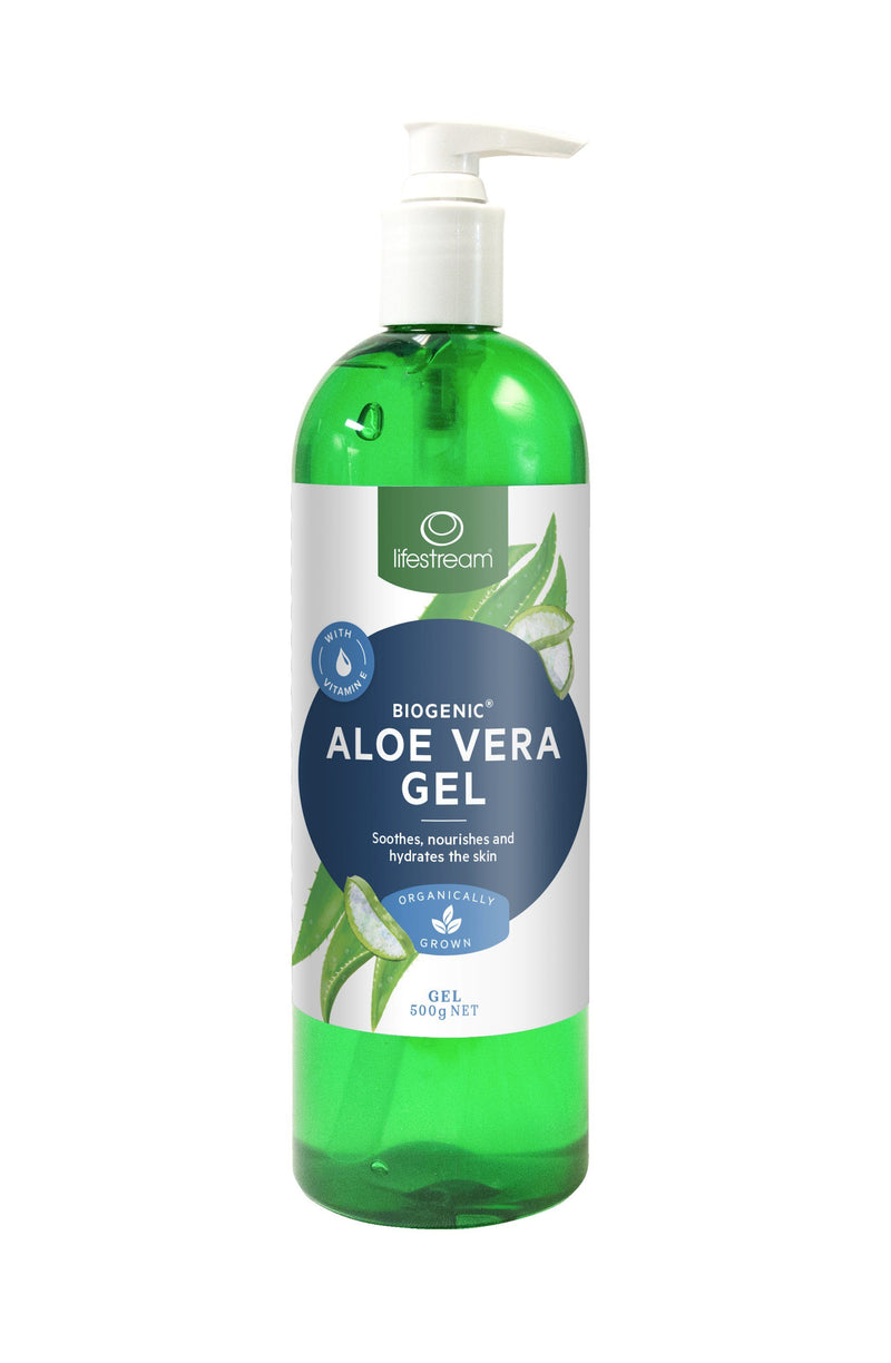 Lifestream Biogenic® Aloe Vera Gel Natural Skincare Integria Health Care 500g