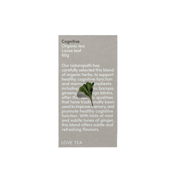 Love Tea Cognitive Tea Herbal Teas Oborne Health Supplies