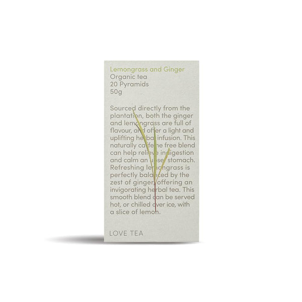 Love Tea Lemongrass & Ginger Beverages Love Tea 50g 1