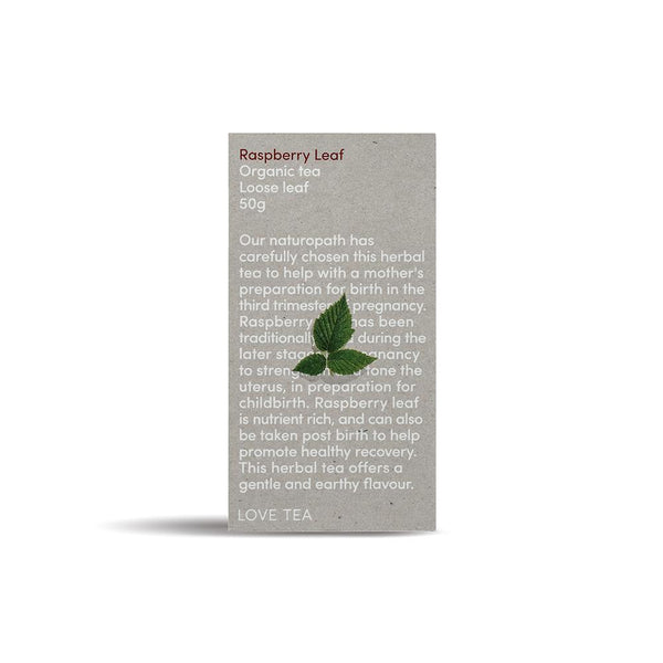 Love Tea Raspberry Leaf Tea Herbal Teas Oborne Health Supplies 50g