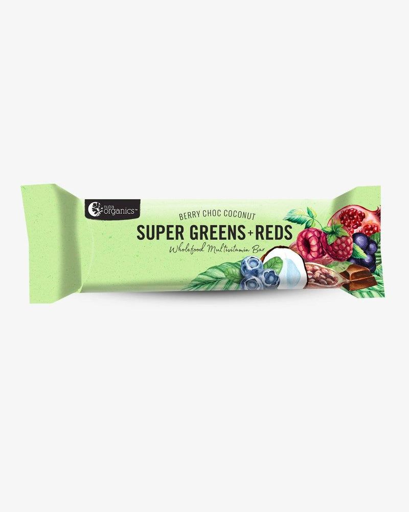 NutraOrganics Super Greens & Reds Bar Grocery Oborne Health Supplies