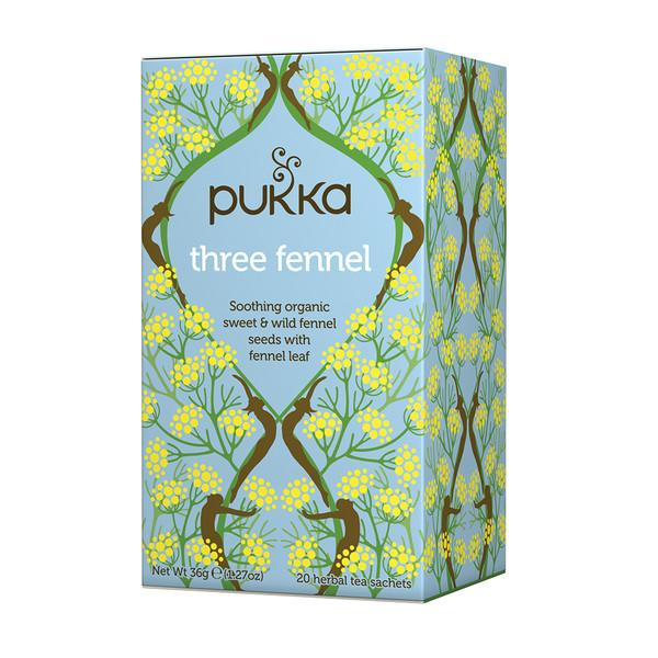 Pukka Three Fennel Tea Herbal Teas Oborne Health Supplies