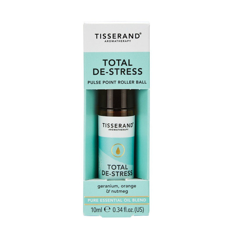 Tisserand Total De-Stress Essential Oil Roller Ball Gifts, Books & Accessories Oborne Health Supplies