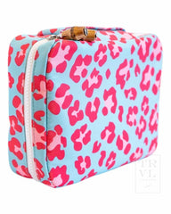 Brush Up Bag Leopard Pink