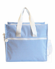 First Class Tote Or Diaper Bag Gingham
