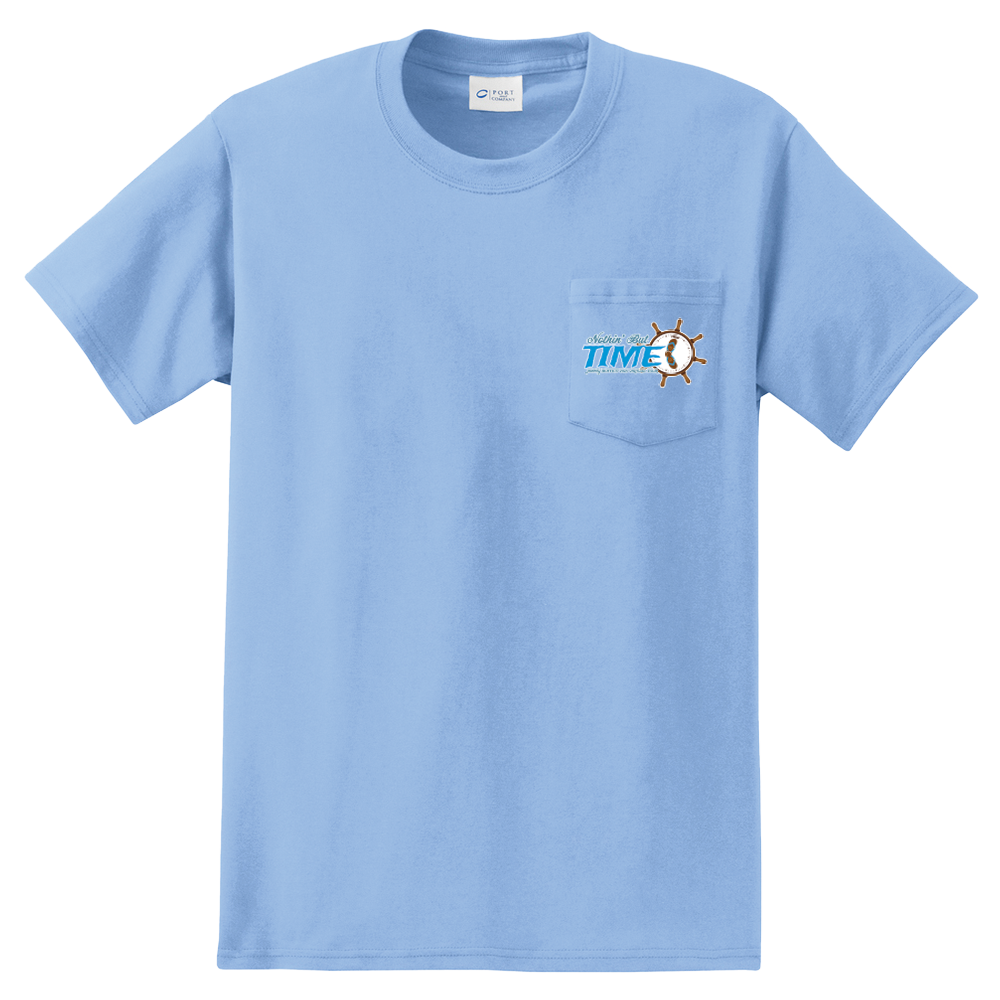 2021 Nothin' But Time Virtual Tour Pocket Tee - Light Blue