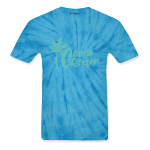 Coral Reefer Blue Tie Dye Tee Shirt