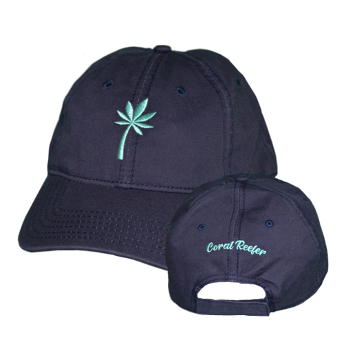 Coral Reefer Navy Blue Hat Logo Only