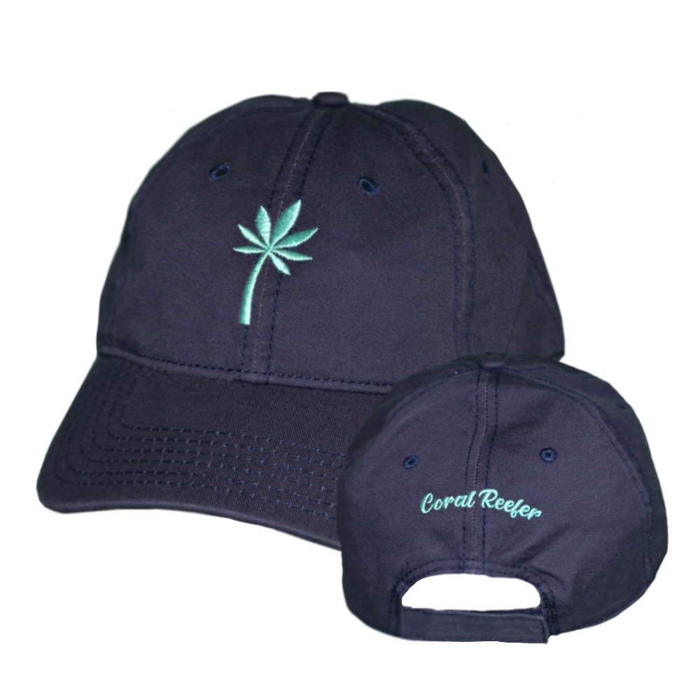 Coral Reefer Navy Blue with Sea-foam Palm Hat