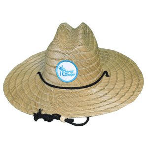 Coral Reefer Straw Hat with Patch