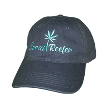 Load image into Gallery viewer, Coral Reefer Navy Blue Hat with Writing