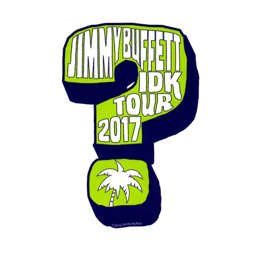 I Don't Know Tour 2017 Green Blue Sticker