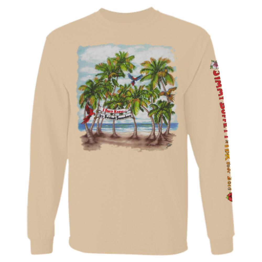I Don't Know Tour 2016 Tan Long Sleeve