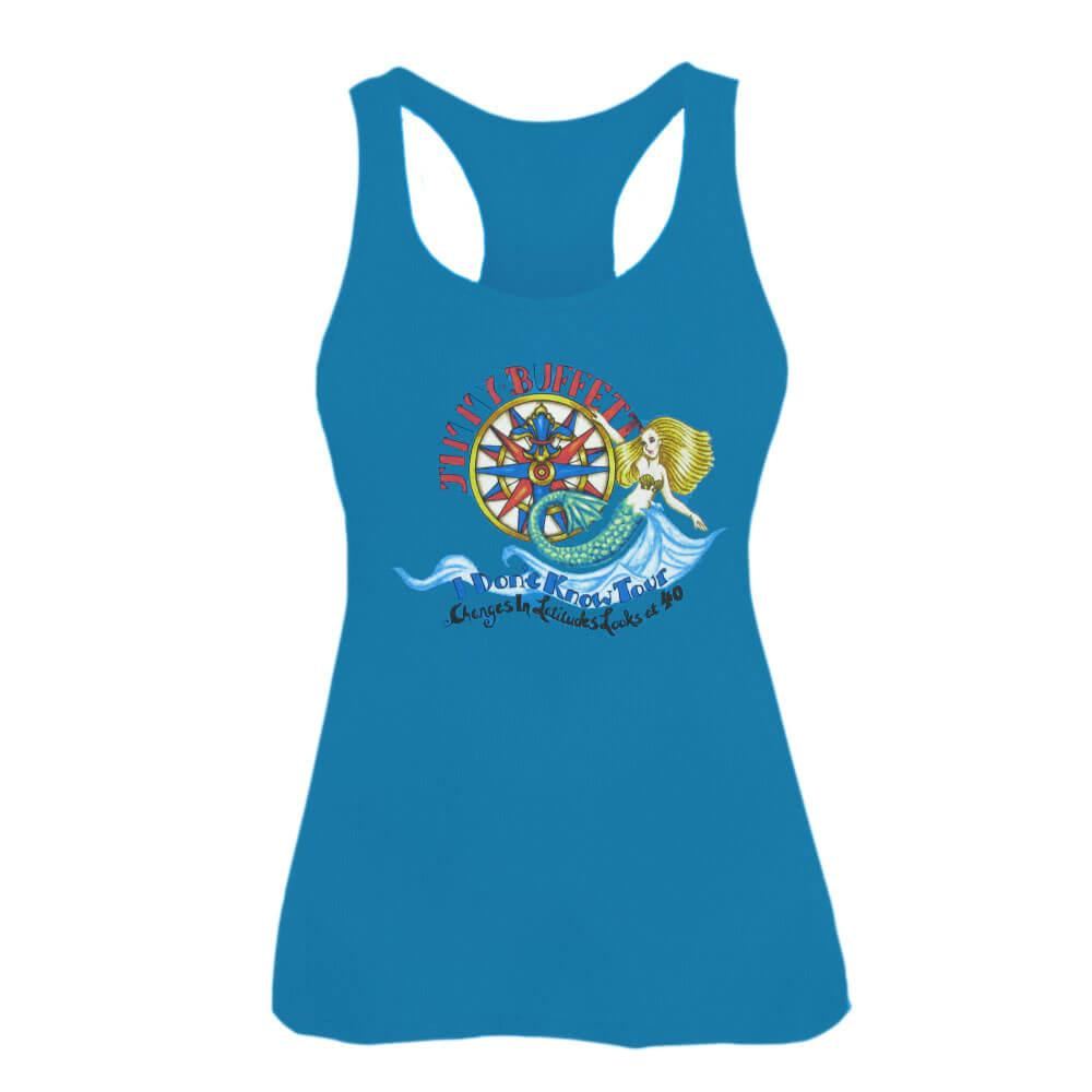 I Don't Know Tout 2016-17 Ladies Blue Tank Top with Mermaid