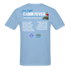 Cabin Fever Pocket Logo Blue Tee