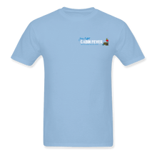 Load image into Gallery viewer, Cabin Fever Pocket Logo Blue Tee