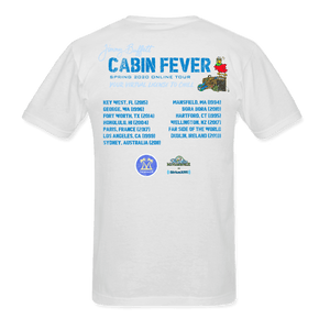 Cabin Fever Pocket Logo White Tee