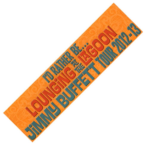 Lounging At The Lagoon Tour 2012-13 Orange Bumper Sticker