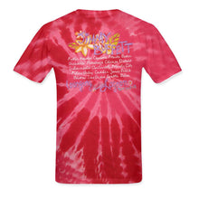 Load image into Gallery viewer, Lounging At The Lagoon Tour 2012-13 Red and Pink Ladies Tye Dye