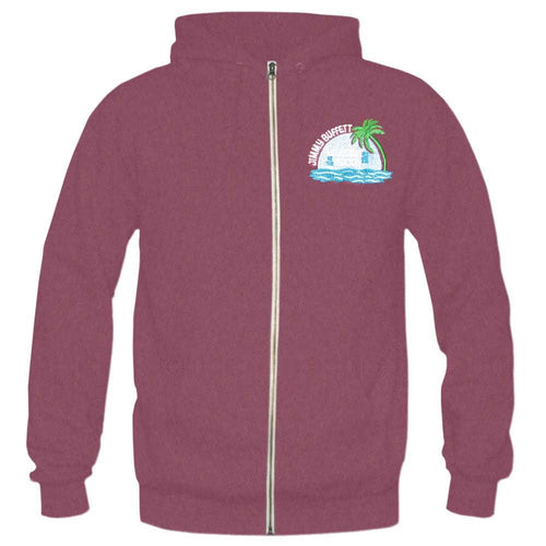 Lounging At The Lagoon Tour 2012 Maroon Zip Hoodie