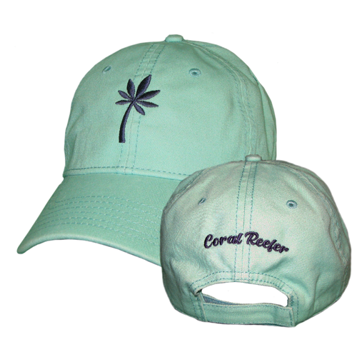 Coral Reefer Sea-foam with Navy Blue Palm Hat