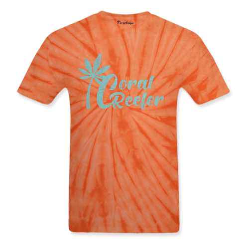 Coral Reefer Orange Tie Dye Tee Shirt