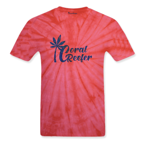 Coral Reefer Red Tie Dye Tee Shirt