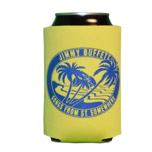 Songs From St. Somewhere Tour 2013 Yellow Drink Koozie with Blue Logo