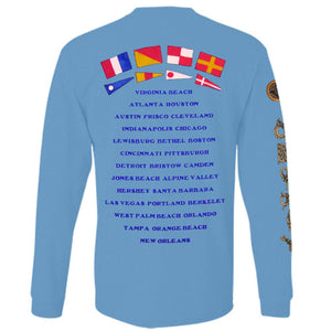 This Ones For You 2014 Tour Sail Boats Long Sleeve with Flags and Cities on Back