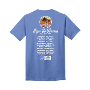 Tryin' To Reason Tour Blue Tee