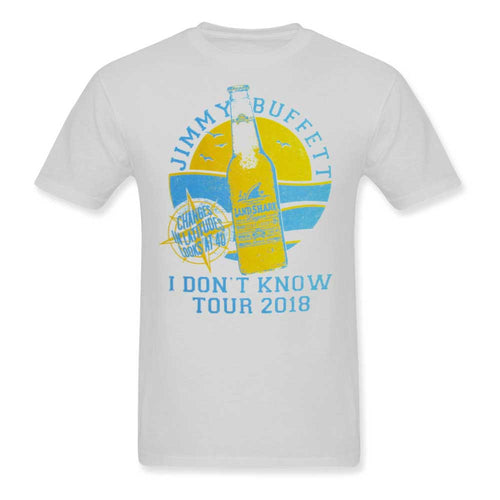 I Don't Know Tour 2018 White Land shark Lager Tee