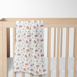 Unicorn Muslin Baby Swaddle Blanket