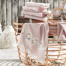 Load image into Gallery viewer, Modern bathroom designed with powder-pink, Turkish hand towels