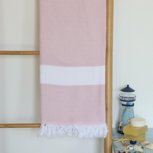 Load image into Gallery viewer, Pure cotton, Turkish peshtemal in pink color
