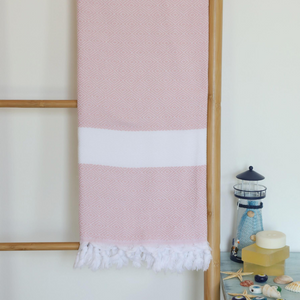 Pure cotton, Turkish peshtemal in pink color
