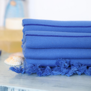 Turkish towels in navy color for beaches