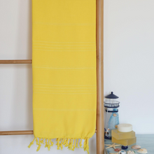 Load image into Gallery viewer, absorbant Turkish beach/hammam towel