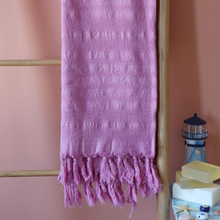 Load image into Gallery viewer, Liliac Turkish beach towel made of 100% cotton