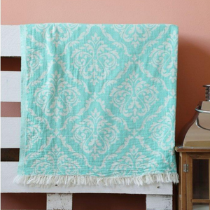 Turquoise Oriental Turkish towel made of 100% cotton