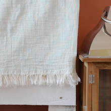 Load image into Gallery viewer, Oriental Light-turquoise Turkish towel is made of Turkish cotton