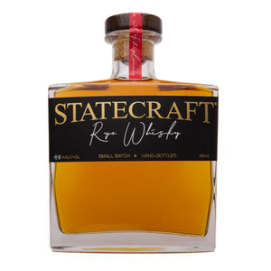 Statecraft Distilling Co. Single Cask, Hand-Bottled, Straight Rye Whiskey (500ml)