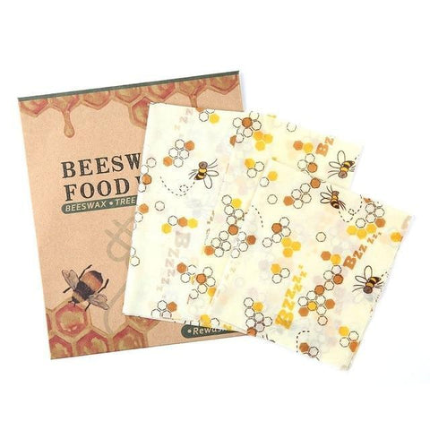 Zero-Waste Reusable Bees Wax Food Wraps - 3pcs - A Sustainable You